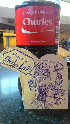 damiengrimmthedevilsson: So I was waiting at the airport and did this to the bottle of coke that my dad bought XD