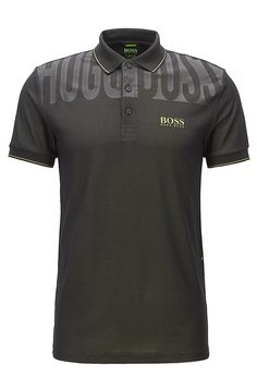 Stretch Graphic Polo Shirt, Slim Fit | Paule Pro  Black from BOSS Green for Men for $145.00 in the official HUGO BOSS Online Store free shipping