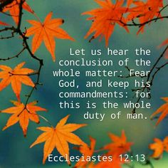 Ecclesiastes 12:13 KJV