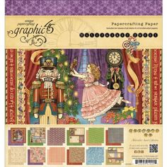 Nutcracker Sweet collection 8 by 8-Inch Paper Pad