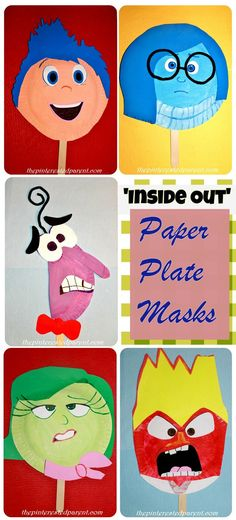 Inside Out Paper Plate Masks Craft