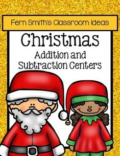 Quick and Easy to Prep Bundle of Christmas Addition and Subtraction Centers  This discounted bundle has twelve different addition and subtraction strategies which can be mixed and matched for endless combinations. #TPT $Paid