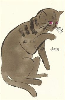 Warhol-cat-licking-paw.jpg    Blanca V via The Great Cat onto All cats, all the time