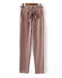 0d6f51e6a3f0d4 Chiffon high waist harem pants bow tie drawstring elastic trousers ~  IFashionKilla: Shopping online women