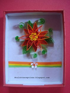Color Conceptions: Quilled flowers and a birthday card