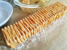 Egyszerű karamellkrémes csíkos szelet - sütés nélkül recept lépés 4 foto Apple Pie, Nutella, Bread, Food, Brot, Essen, Baking, Meals, Breads