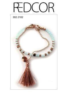 Redcor Armband, mit Liebe von Hand gefertigt! - Perlen, Quaste