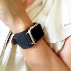 Dark Gray Apple Watch Band, 42mm or 38mm Apple Watch Cuff, Apple Watch Band…