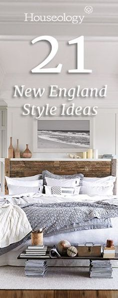Let the laid-back relaxation of the stylish Hamptons inspire your home interior with these top 21 tips for creating New England style in every room of your own home...