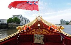 Diamond Jubilee: The Queen's barge, Gloriana, on the Thames