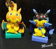 Pikachu Cosplay, Mega Charizard X e Y :)