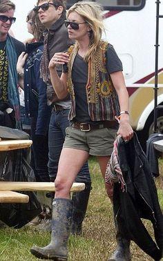 Kate Moss en Glastombury