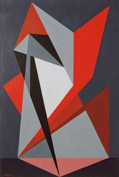 Simbolo Gualtiero Nativi FerrarinArte tempera su carta intelata 1947