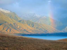 Ed Dahlberg, New Zealand Biking Adventure 'Weka' trip  The many moods of Lake Pukaki at the foot of Aoraki Mount Cook – rolled into one fine image