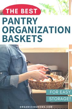 How to use pantry organization baskets to make your pantry ultra-efficient. Smart pantry organization ideas you won't want to miss. #Organizing #MealPrep #organizingmoms Kitchen Cabinet Organization, Pantry Storage, Storage Organization, Organizing Wires, Organizing Your Home, Farmhouse Baskets, Plastic Baskets, Organized Mom, Pantry Labels
