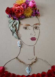 """Frida II"" Flower Face Print by Vicki Rawlins #FaceTheFoliage"