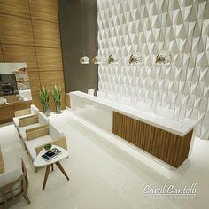 - Recepção Clínica Odontológica  Autor do Projeto Arquitetônico e Projetos Complementares: Escritório LSA. Arquitetura  Decoração por @carolcantelli_interiores