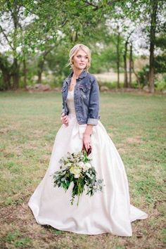 Dare to Rock: 35 Bridal Jackets Of Leather And Denim   HappyWedd.com