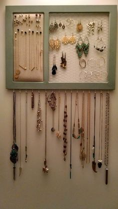 DIY Jewelry Organizer « House Full of Pretty