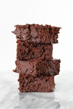 Fudgy black bean brownies! ! You can't taste the beans I swear.