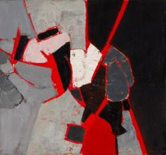 Composition: Red, Black and Grey Adrian Heath
