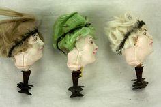 Antique German Blown Glass Decorated Woman's Head Christmas Ornament ca1910 | eBay