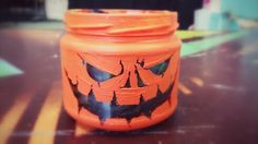 Halloween  jack o lantern jar