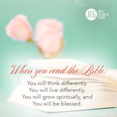 Take time every day to read and study God's Word so you can apply it to everyday life!