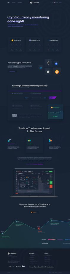 Coinbase is clean and modern design PSD #template for #bitcoin and #cryptocurrency exchange and trading company website with 11 layered PSD files to live preview & download click on image or Visit #webdev