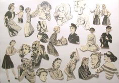Why not use these women to create unique vintage greeting cards? Die cut vintage women embellishments pack by PinkFlamingoEphemera, £2.50