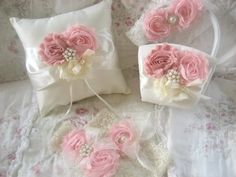 Valentine Flower Girl Basket -  Blush Rose Blossom #weddings #decoration @EtsyMktgTool http://etsy.me/2fl5veb