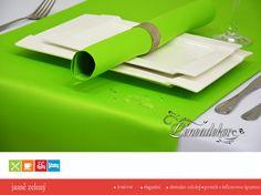 Běhoun na stůl- s teflonovou úpravou-BP24 jasně zelený- 40x110cm