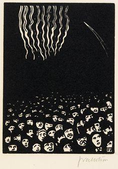 Fireworks, Félix Vallotton, 1901, Woodcut    Dimensions:  6 7/16 x 4 13/16 in