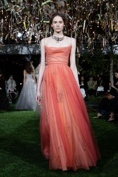 This fiery tulle dress from Dior's Haute Couture Tokyo show was just one of the standout looks seen on the runway.