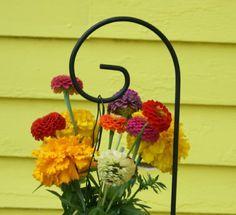 "Set of 12 - 36"" Medium Scroll Shepherd Hook Small Garden Hanger Wedding Supplies. $54.00, via Etsy."