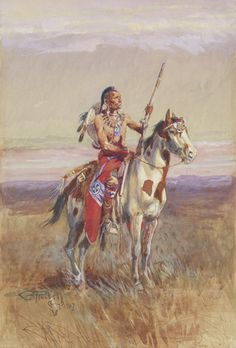 Charles M. Russell | The Scout | 1907 | Watercolor, pencil & gouache on paper | 16 3/4 inches x 11 5/8 inches