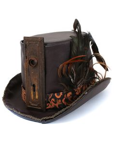 Handmade Steampunk Holmes Top Hat | BeHoneyBee.com $184 - Perfect for your Burning man outfit