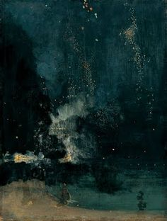 File:Whistler-Nocturne in black and gold.jpg Nocturne in Black and Gold – The Falling Rocket is a painting by James Abbott McNeill Whistler, completed circa James Abbott Mcneill Whistler, Art Et Architecture, Inspiration Art, Bedroom Inspiration, Manet, Caravaggio, Art Abstrait, Art Graphique, Art For Art Sake