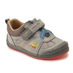 ad98da1f5fd77 SR Super Soft Spider in Grey Leather School Shoes