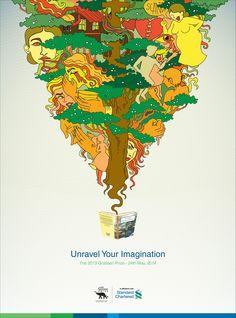 Love the illustration!  Adeevee - Standard Chartered Bank / The Gratiaen Prize: Unravel Your Imagination