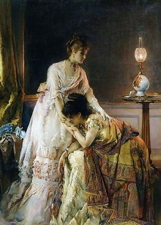 Ladies after the ball - Alfred Stevens, 1874, New York:The Metropolitan Museum of Art (USA)