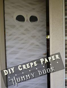 Front Door Mummy   #Halloween #Crepe Paper #Mummy