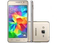 www.magazinevoce.com.br/magazinemulhernotamil - Smartphone Samsung Galaxy Gran Prime Duos 8GB - Dourado Dual Chip 3G Câm. 8MP Desbl. Oi
