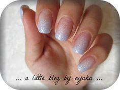 #blue #ombre #nails #glitter