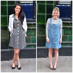 #pushwears with Naomi and Victoria. Vintage vs high-street button up dresses.