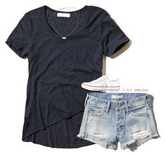 """""""It's snowing outside but whatever"""" by gourney ❤ liked on Polyvore featuring Abercrombie & Fitch, Converse, Miadora, Kendra Scott, Michael Kors, women's clothing, women's fashion, women, female and woman"""
