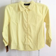 Smith's American Big Girls' Long Sleeve Pointed Collar Blouse Yellow Size 14 #AmericanGirl