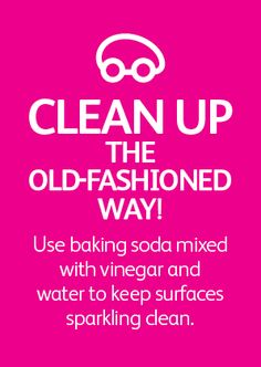 Clean up the old fashioned way!