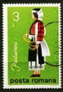 Rumanía-Traje Folclórico Femenino de Padureni