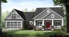 Cottage Style House Plans 2199 Square Foot Home , 1 Story, 4 ...